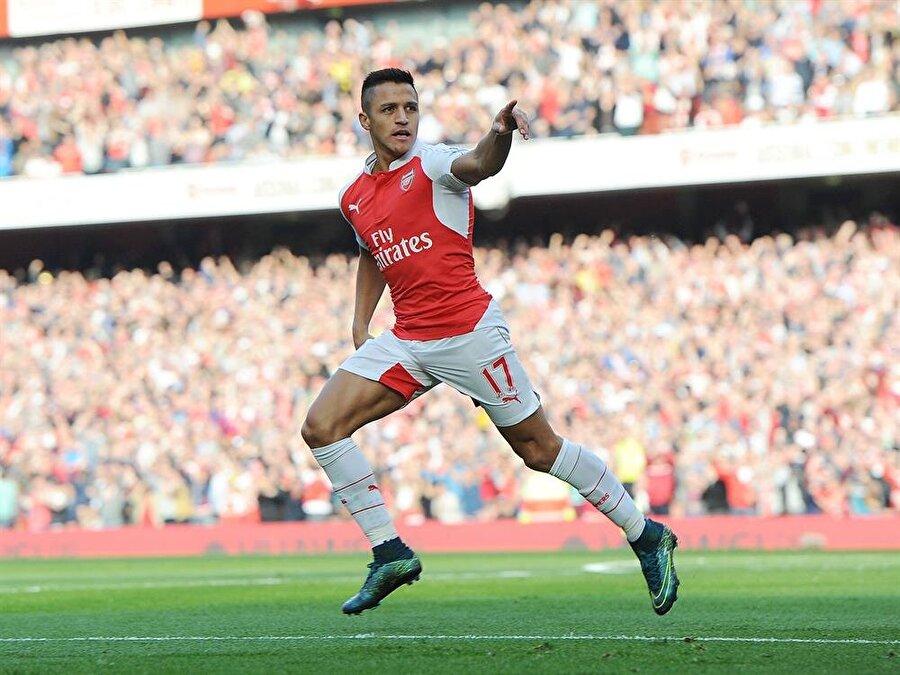 9. Alexis Sánchez                                                                           Arsenal