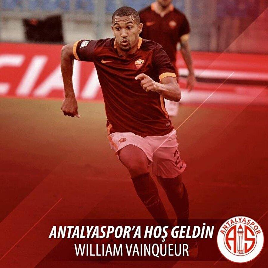 William Vanqueur                                                                                                                                                     Eski Takımı: RomaYeni Takımı: Antalyaspor
