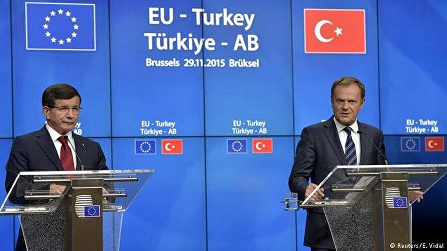 Türkiye ile Avrupa arasında ilk adım 29 Kasım 2015 tarihli Türkiye-AB Zirvesi'nde atıldı.