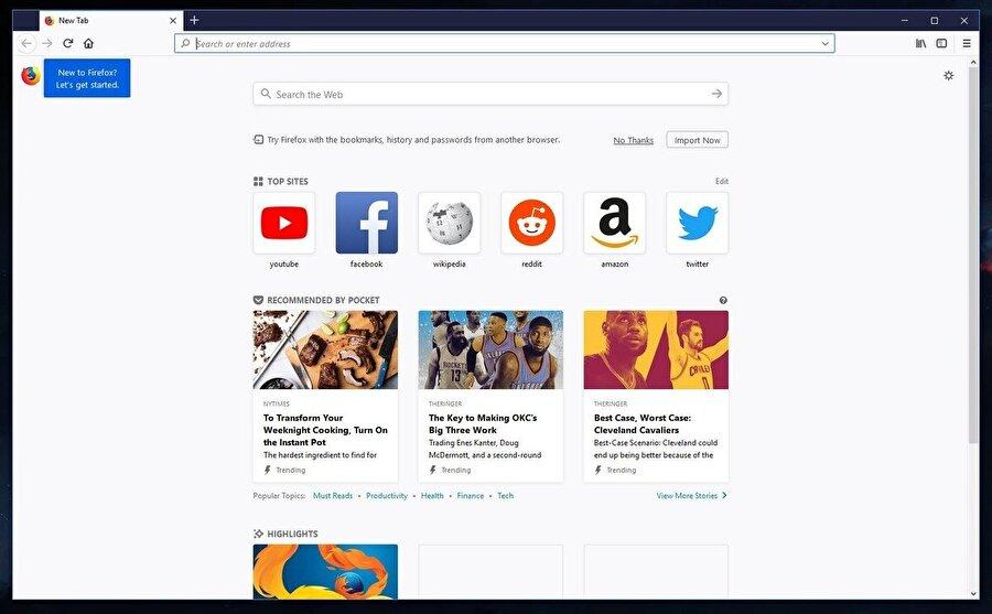 Daha az bellek tüketimi: İşlemci ve RAM gibi sistem kaynaklarının daha az kullanılıyor olması, Firefox Quantum'un en önemli avantajları arasında yer alıyor. Bu sayede düşük performanslı bilgisayarları yalnızca internet gezintileri için kullanan kişiler çok daha verimli sonuçlar elde edebiliyor. Hatta Firefox Quantum'un Google Chrome'dan %30 oranında daha hafif olduğu da belirtilenler arasında.