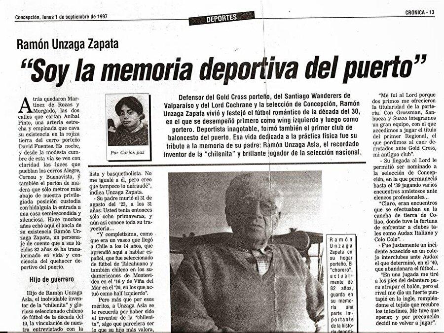 2009 senesinde ise röveşatanın ilk kez denendiği El Morro Stadı'nın ismi, Ramon Unzaga olarak değiştirildi ve bu tarihi futbolcu ölümsüzleştirildi.