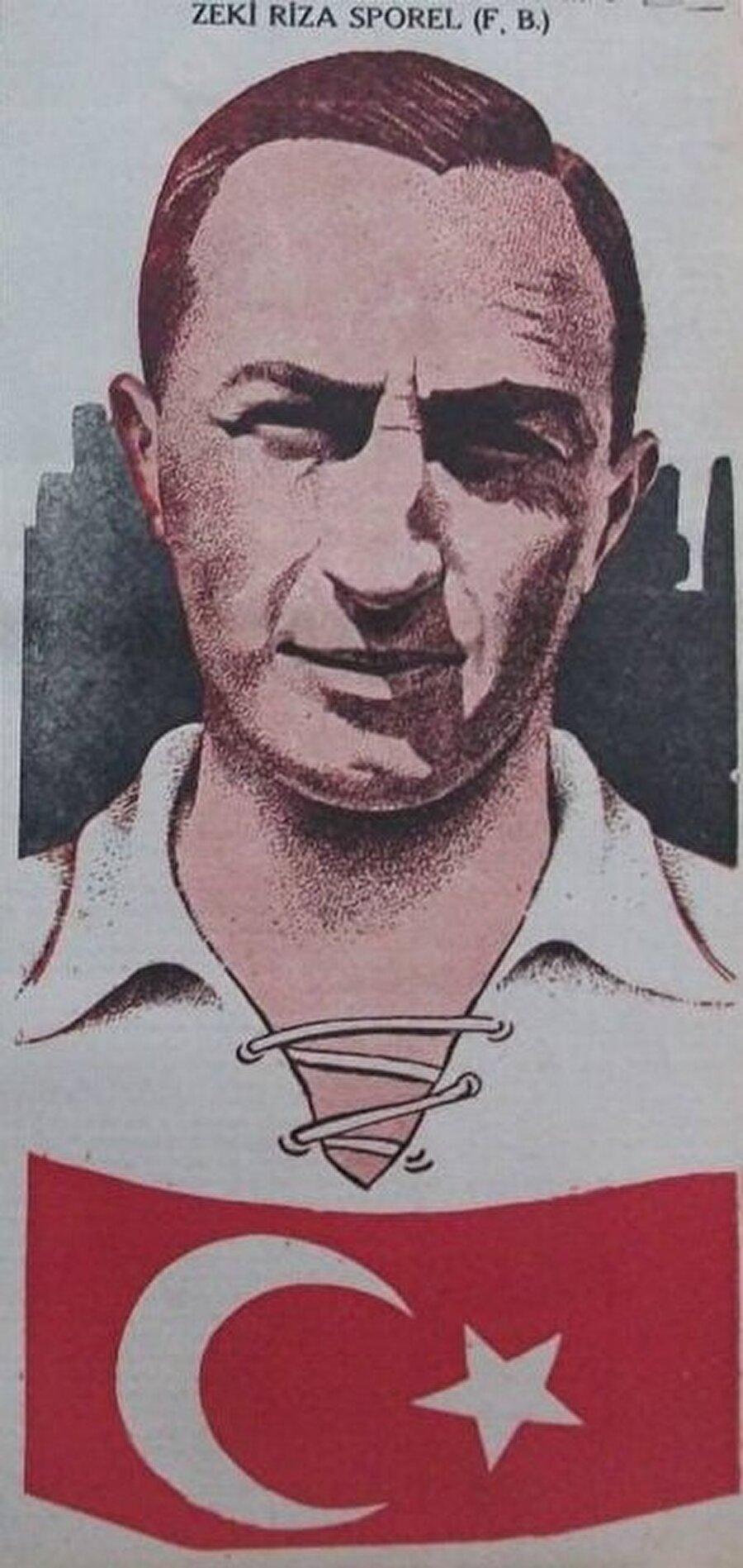 Zeki Rıza, 16 kez de A Milli Takım forması giydi. Söz konusu 16 maçın 10'unda Zeki Rıza kaptanlık pazubandını taktı. Türk Milli Takımının ilk golcüsü olan Zeki Rıza 16 maçta 15 kez fileleri havalandırdı.