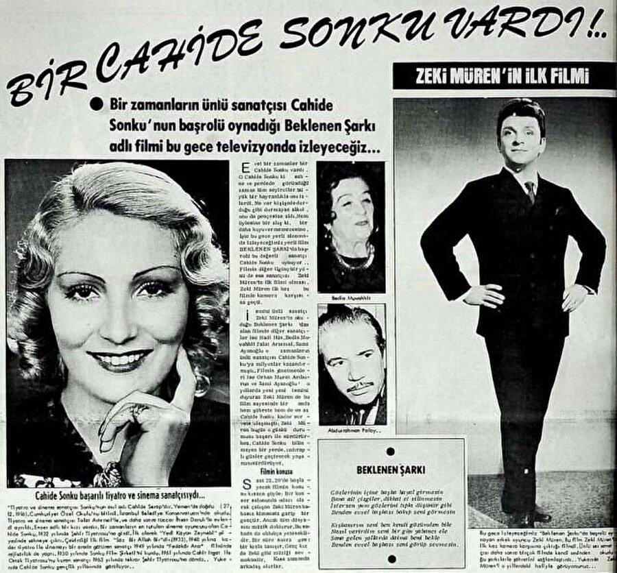 1954 yılına gelindiğinde çekeceği 17 filmin başlangıcı olan ilk filmi Beklenen Şarkı'da rol aldı.