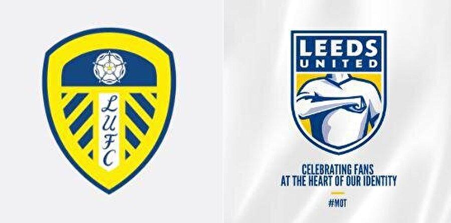 LEEDS UNİTED                                      Leeds United, kulüp logosunun değiştirildiğini açıkladı. Büyük tepki gören logonun eski hale getirilmesi için kısa sürede 10 bin imza toplandı. Soldaki eski, sağdaki yeni logo.
