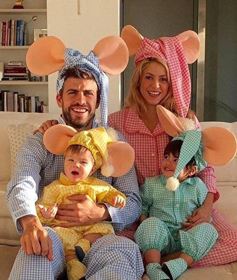 Gerard Pique ve Shakira çiftinin Milan ve Sasha isimli iki oğlu bulunuyor.