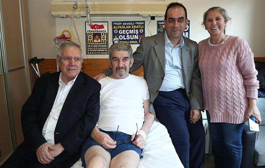 Efsane kaptan geçtiğimiz günlerde sağlık sorunları nedeniyle İstanbul Fatih Sultan Mehmet Eğitim ve Araştırma Hastanesi'nde tedaviye alındı. Eratlı'yı kulüp başkanı Aziz Yıldırım, yöneticiler ve eski futbolcular ziyaret etti.