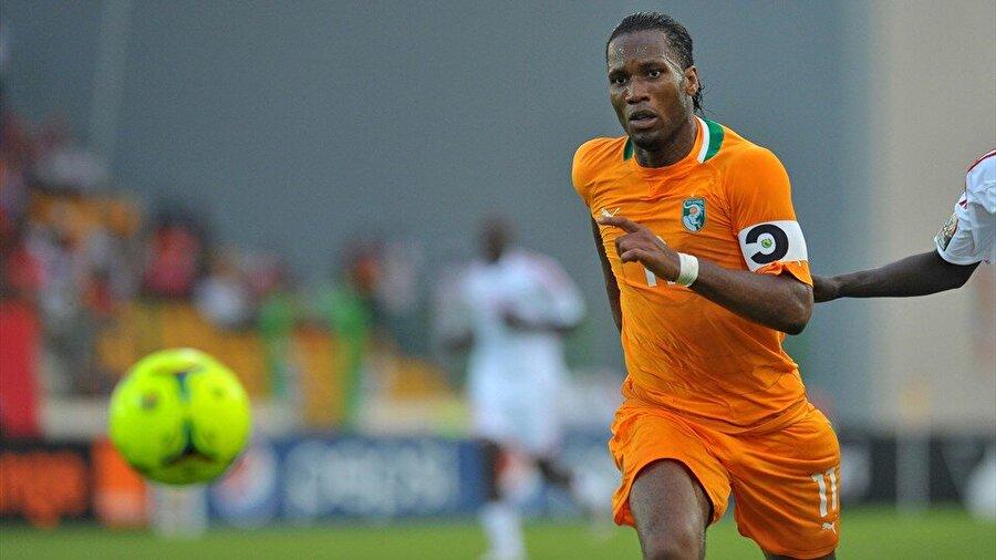 Chelsea ile yıldızı parlayan Drogba, milli takımının da vazgeçilmezleri arasındaydı.