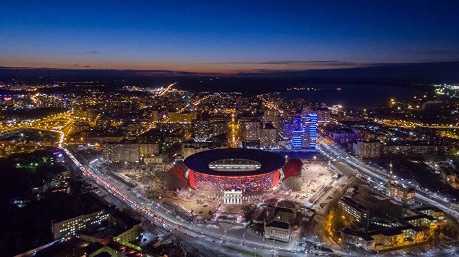 Ekaterinburg Arena                                                                           Şehir: EkaterinburKapasite: 45.000Oynanacak maçlar:15 Haziran / A Grubu Mısır-Uruguay21 Haziran / C Grubu Fransa-Peru24 Haziran / H Grubu Japonya-Senegal27 Haziran / F GrubuMeksika-İsveç