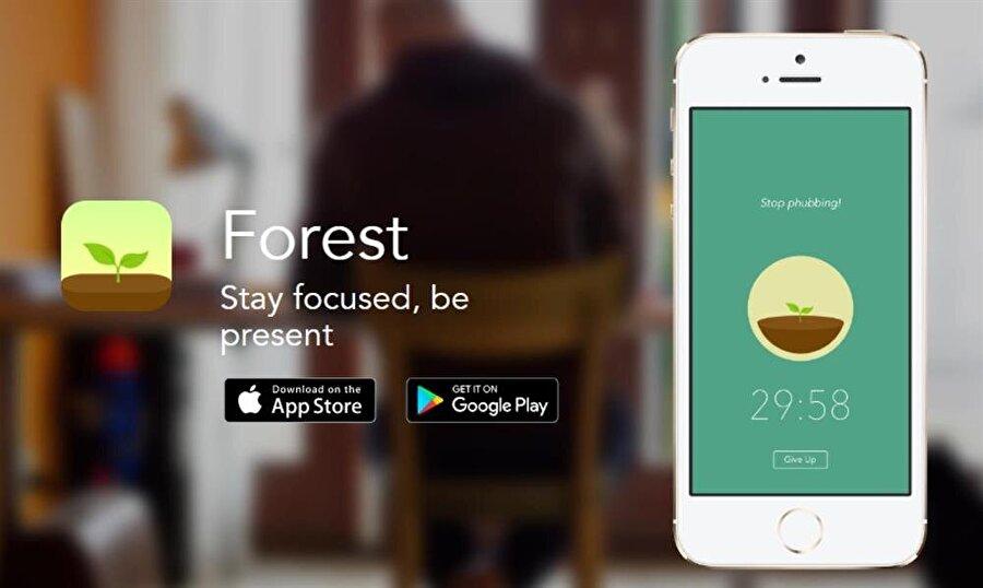 Forest by Seekrtech                                      Forest by Seekrtech, akılı telefon ya da tabletlerde zaman kaybetmeye karşı koyamayanlar için büyük bir öneme sahip. Günü belirli dilimlere ayırıp planlama yapmak isteyenlere fırsatlar sunan mobil uygulama, verimli çalışma konusunda öneme sahip büyük ipuçları barındırıyor.iOS (Ücretsiz)Android (Ücretsiz)