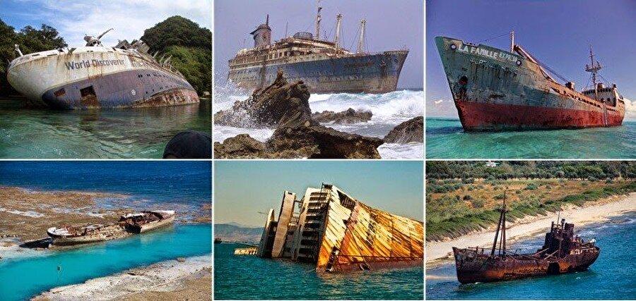 4. Güney Afrika sahilinde  2000'den fazla gemi enkazının bulunduğu belirtiliyor.