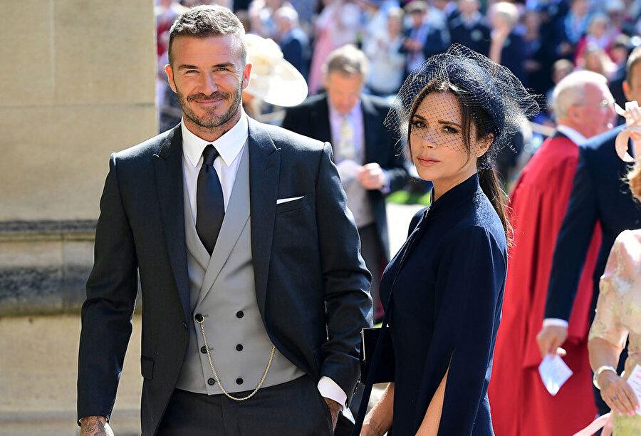Beckham çifti de törene katıldı