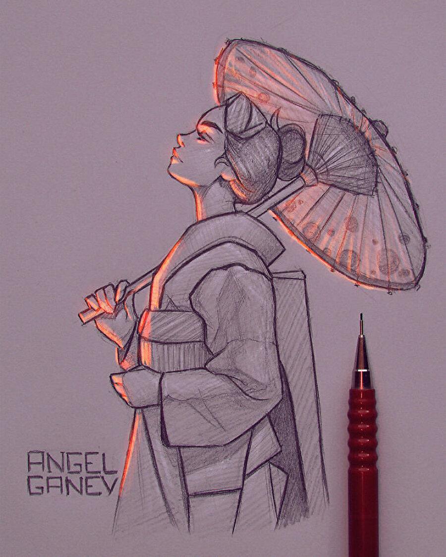 Şemsiyenin ışığı kaldırma gücü...