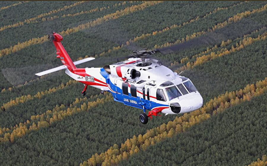 Sikorsky S-70i                                                                                                                Jandarma Genel Komutanlığı envanterine yeni giren S-70i dünyaca ünlü helikopter şirketi Sikorsky'nin en gelişmiş helikopteri olarak biliniyor.
