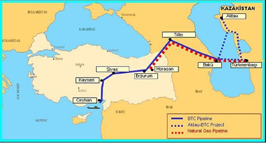 """Bakü-Tiflis-Erzurum Doğalgaz Boru Hattı Azerbaycan'ın Güney Hazar Denizi kesiminde yer alan Şah Deniz sahasında üretilecek doğal gazın Türkiye'ye arzını amaçlayan Bakü-Tiflis-Erzurum Doğal Gaz Boru Hattı 12 Mart 2001'de imzalanan Türkiye-Azerbaycan Hükümetlerarası Anlaşması çerçevesinde hayata geçirilmiştir. Bu kapsamda, BOTAŞ ve SOCAR arasında 12 Mart 2001 tarihinde yılda 6,6 Milyar m3 Azerbaycan doğal gazının Türkiye'ye sevkine ilişkin 15 yıl süreli Doğal Gaz Alım-Satım Anlaşması imzalanmıştır.   Azerbaycan ve Gürcistan topraklarında Bakü-Tiflis-Ceyhan Ham Petrol Boru Hattı (BTC) ile aynı koridoru kullanan, yaklaşık 980 km uzunluğunda ve 42""""çapında tasarlanan BTE hattının inşasına 16 Ekim 2004 tarihinde başlanmış ve 4 Temmuz 2007 tarihi itibariyle boru hattı üzerinden gaz akışı başlamıştır.   BTE'nin Azerbaycan ve Gürcistan topraklarındaki kısmının (Güney Kafkasya Doğal Gaz Boru Hattı) Şah Deniz sahasının ikinci aşama üretimine paralel olarak kapasitesinin artırılması ve Türkiye-Gürcistan sınırında Trans Anadolu Doğal Gaz Boru Hattı'na (TANAP) bağlanması planlanmaktadır. Proje faaliyetlerine 2015 yılı içerisinde başlanmış olup, 2018 yılının sonuna kadar TANAP'a gaz verebilecek şekilde tamamlanması öngörülmektedir."""