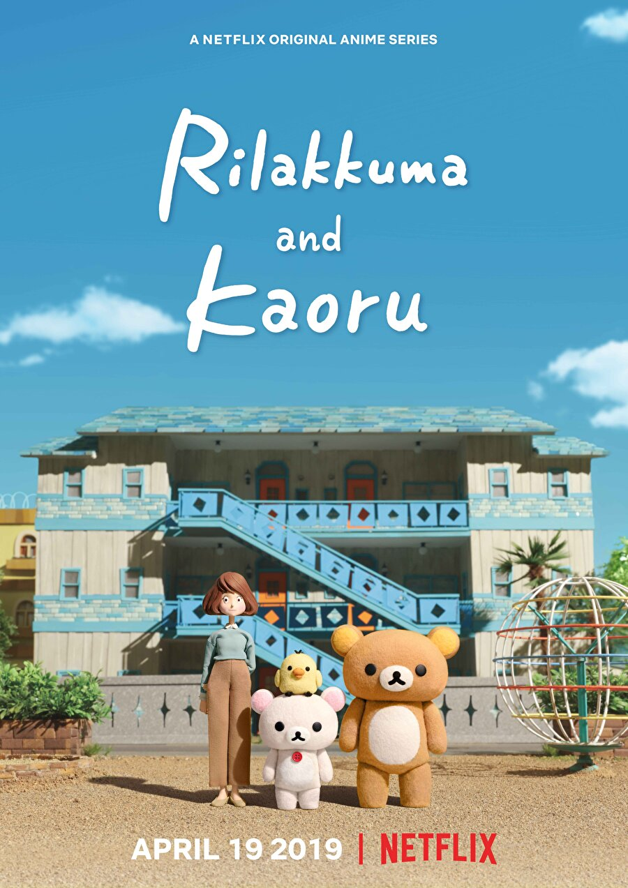 Rilakkuma and Kaoru Otuzlu yaşlarındaki bir kadın, dairesini orada ikamet etmeye karar veren bir oyuncak ayı ile paylaşmaya başladığında, hayatın sırrının bazen dinlenmek kadar basit olduğunu fark eder. Japonya'daki en popüler karakterlerden biri, bu stop-motion animasyon serisinde 19 Nisan 2019'da Netflix ekranlarında olacak