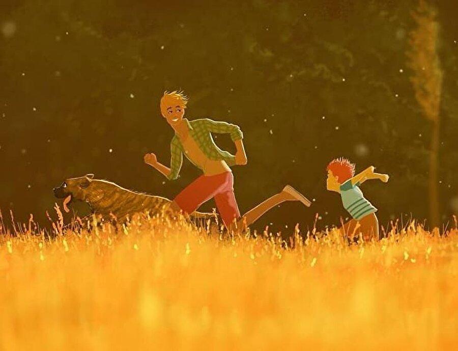 Bir baba ve oğlunun mutluluğu