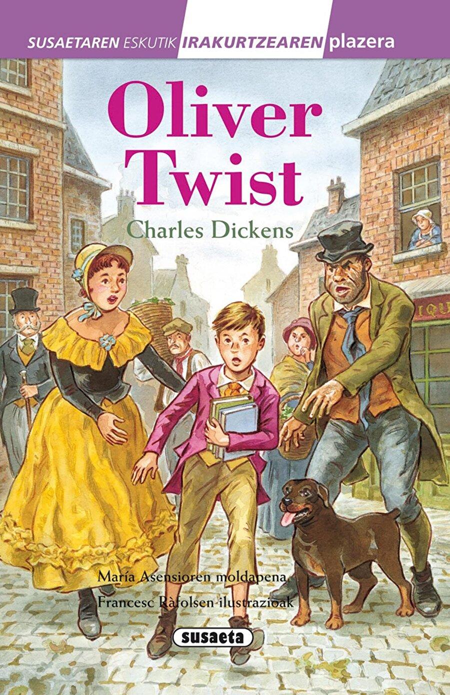 Oliver Twist - Charles Dickens                                                                           İlkokul yıllarında sınıflar için oluşturulan kütüphanenin başrolü olur kendileri. Buna rağmen okutturmuyorsanız çocuğunuza diyecek sözümüz yoktur efendim. Her şey bir yana dursun, sadece hikayesi bile çocuğunuzun derinlikli düşünce yapısına sahip olması için yetmektedir. Düşünün ki defalarca sinemaya uyarlandı bir de müzikal oldu.