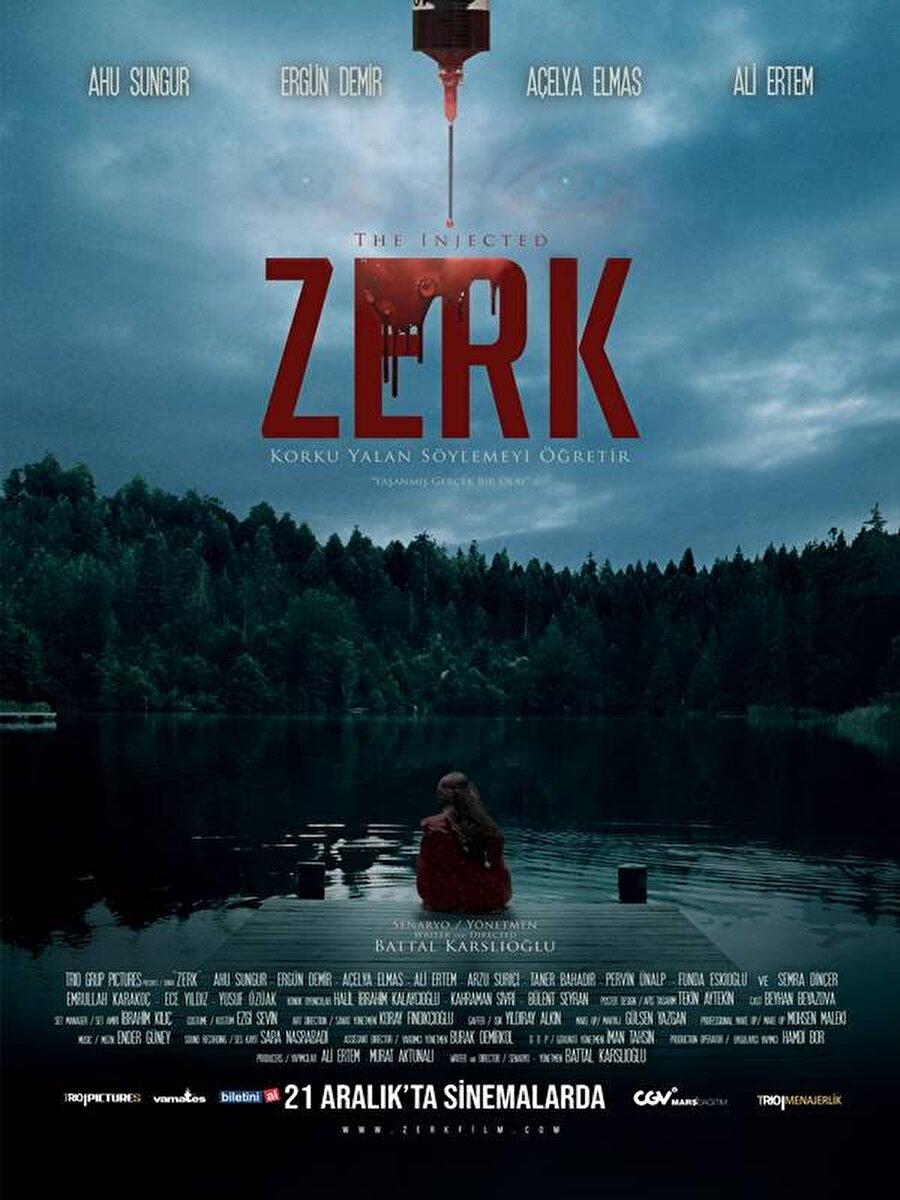 """12. Zerk Battal Karslıoğlu'nun yönettiği haftanın yerli korku filmi """"Zerk"""", geçmişte yaşanmış trajik bir olayı sürekli olarak kabuslarında gören bir adamın bu vakayı araştırmasını konu alıyor."""