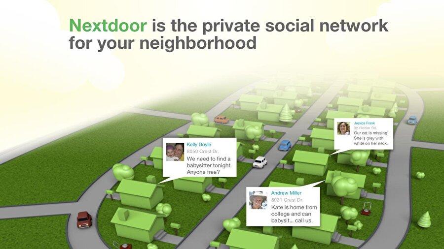 NextDoor Son olarak NextDoor'dan da bahsetmek gerekiyor. Tamamen davetiye sistemiyle çalışan ücretsiz bir sosyal ağ olarak bilinen NextDoor, kitleleri bir araya getiriyor.