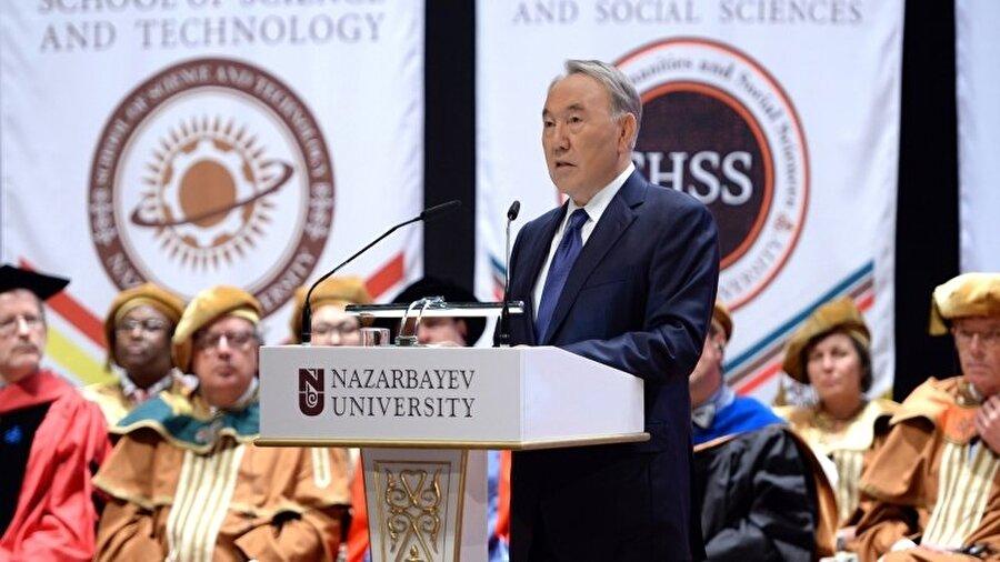 Kendi yetkilerini azaltan anayasa değişikliğine onay verdi                                                                                                                26 yıldır 'başkanlık sistemi'yle yönetilen Kazakistan'da Cumhurbaşkanı Nursultan Nazarbayev'in yetkilerini azaltan anayasa değişikliği ezici bir çoğunlukla kabul edildi. Nazarbayev'in de desteklediği değişiklik milletvekilleri ve kabineye daha fazla yetki verirken, siyasi değişimlerin de önünü açıyor. 26 yıldır Nazarbayev'in partisi Nur Otan'ın yönetimindeki Kazakistan'da güçlü bir muhalefet bulunmuyor.