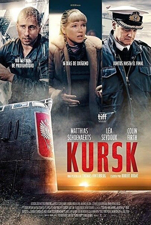 """3. Kursk Thomas Vinterberg yönetmenliğindeki """"Kursk"""", 120 Rus askerinin ölümüyle sonuçlanan Kursk isimli denizaltının batma hikayesini anlatıyor. Belçika yapımı filmde 2000 yılında gerçekleşen denizaltı felaketi ve sonrasında yaşanan olaylar hatırlatılırken yaşam mücadelesi veren mürettebatın ailelerinin onları kurtarmak için mücadele etmek zorunda kaldığı siyasi engeller ve zorluklar da beyaz perdeye taşınıyor."""