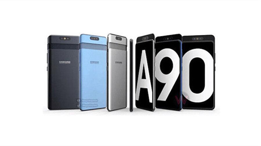 Samsung Galaxy A90'ın teknik özelliklerinin tamamı sızdı                                                                           Galaxy A serisi büyümeye devam ediyor. Samsung bu kez de Galaxy A70 ve Galaxy A90'ı piyasaya sürmeye hazırlanıyor. Hatta Galaxy A90 ile ilgili bilgiler şimdiden ortaya çıkmış durumda.