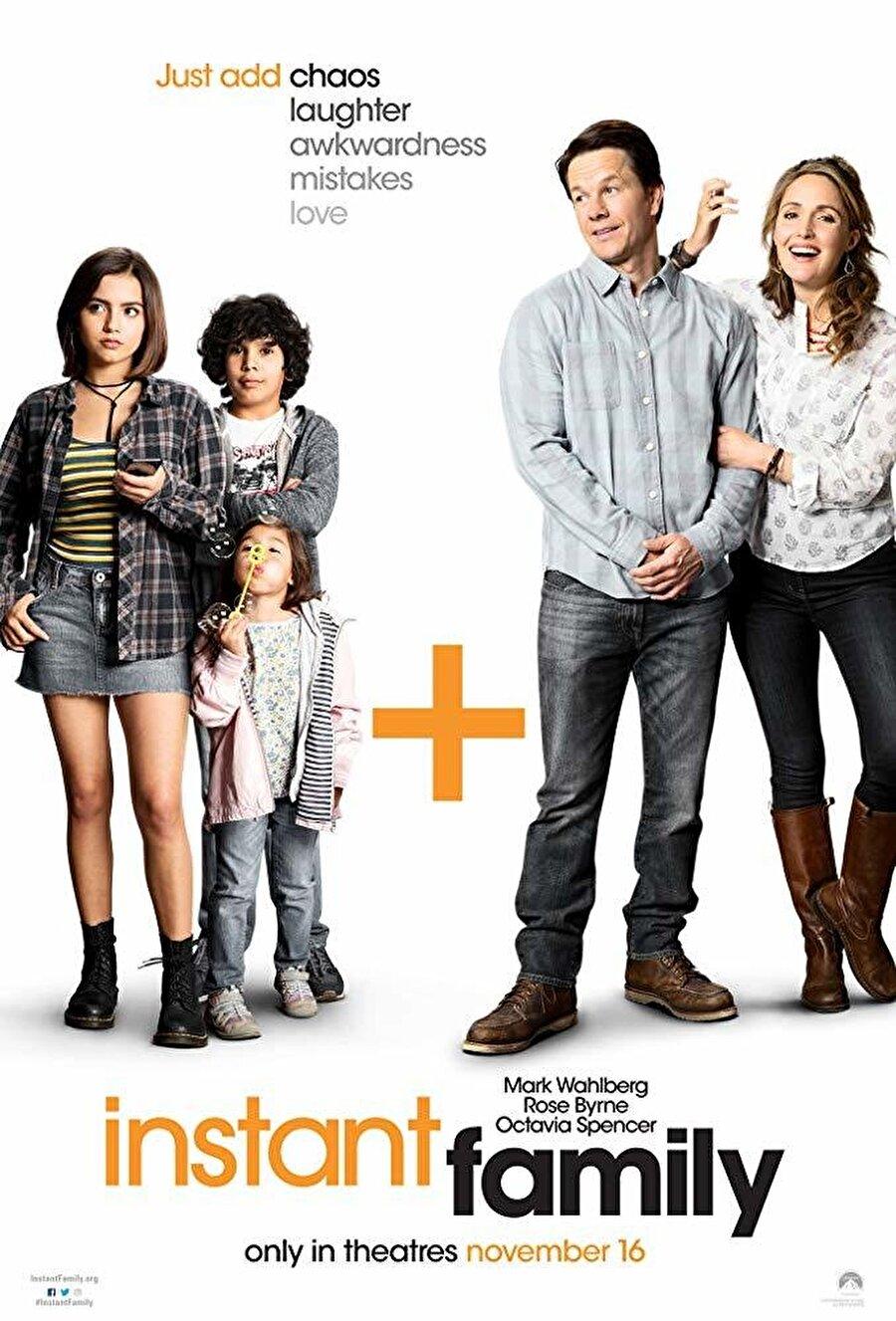 """7. Şipşak Aile                                      Rose Byrne ve Mark Wahlberg'in başrolünde yer aldığı """"Şipşak Aile"""", bir aile kurmaya karar veren Pete ve Ellie çiftinin üç kardeşi evlat edinmesiyle yeni bir hayata uyum sağlama çabalarını odağına alıyor. Wahlberg ile Byrne ikilisine başrolde Isabela Moner, Gustavo Quiroz, Julianna Gamiz ve Octavia Spencer'ın eşlik ettiği komedi dram karışımı filmin yönetmen koltuğunda Sean Anders oturuyor."""