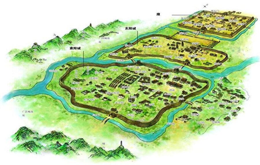 Çin'in Qingzhou Antik Şehri / 4 bin yıl öncesi                                                                                                                                                                                          Antik kentin 2 bin yıl öncesine ait olduğu düşünülüyor. Yaklaşık 210 hektarlık bir alanı kaplayan antik kent, 5 bin 850 metre uzunluğunda bir sur ve şehir surlarının dışındaki bir hendekten oluşuyor.