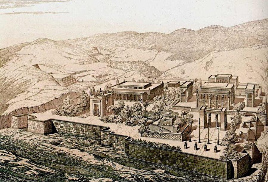 Pers Kralı I. Darius tarafından kurulan Persepolis, MÖ / 6. yüzyıl (İran)                                                                                                                                                                                          Persepolis, MÖ 6. yüzyılın sonlarında kurulduğu ve Pers İmparatorluğu'na başkentlik ettiği biliniyor. Pers Kralı I. Darius tarafından yaptırılan Persepolis, görkemli saray kalıntıları, duvar süslemeleri ve heykelleri ile Pers sanatını gözler önüne seriyor.