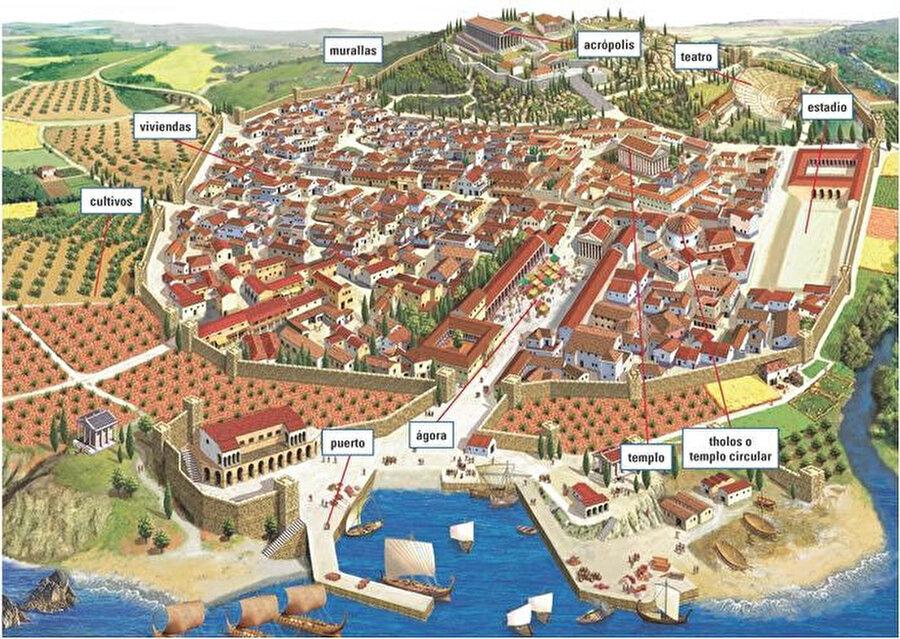 Atina, milattan önce                                                                                                                                                                                          Şehrin tarihi Neolitik Çağ'a dayanmaktadır. Dünyanın en eski kentlerinden birisi olarak biliniyor. Çok sayıda tepenin bulunduğu bir araziye kurulmuştur.