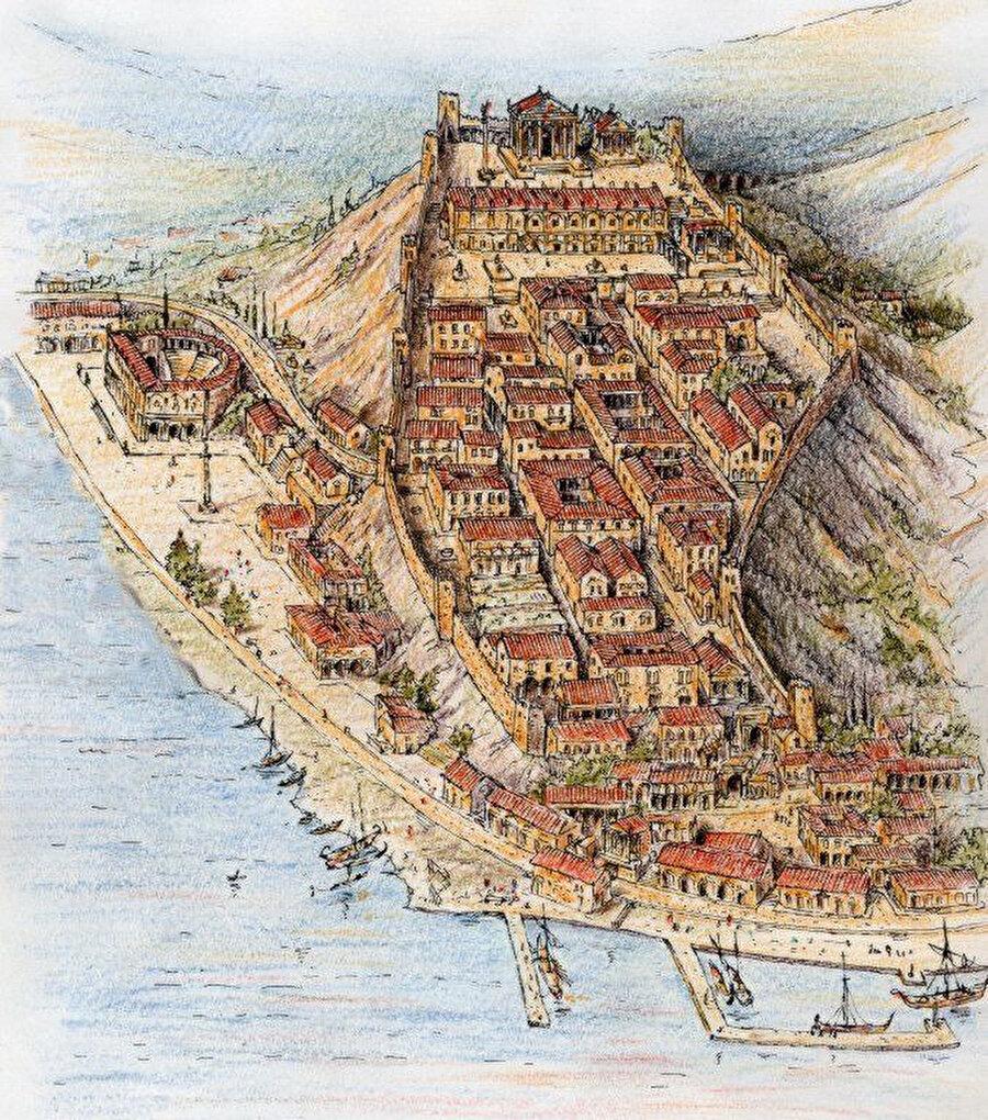 Trieste, İtalya / Milattan önce                                                                                                                                                                                          İtalya'nın kuzey doğu bölgesinde yer alıyor. Kentin, Adriyatik Denizi'ne kıyısı vardır.