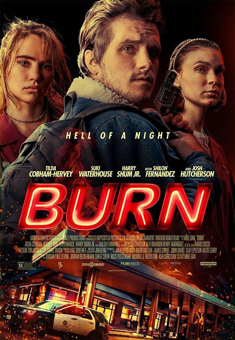 """Cehennem Gecesi                                      Mike Gan'in yazıp yönettiği """"Cehennem Gecesi"""", çevresi tarafından çok ilgi görmeyen bir kadının, çalıştığı benzin istasyonunda gerçekleşen bir soygun girişimi sonrası aldığı inisiyatifle gelişen olayları konu ediniyor.Gerilim türündeki filmin başrollerinde Tilda Cobham-Hervey, Suki Waterhouse, Josh Hutcherson, Harry Shum ve Shiloh Fernandez oynuyor."""