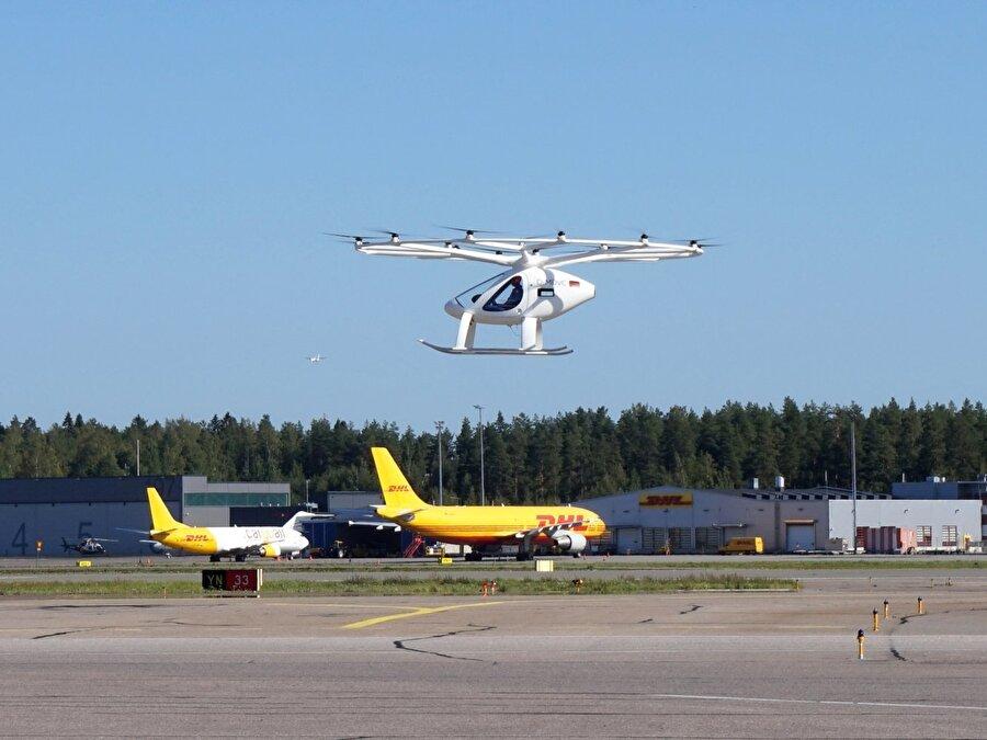 Volocopter, elektrikle çalışan ve dikey iniş-kalkış yapabilen uçuşlarla aslında 2011 yılında önemli bir başarı elde etti.