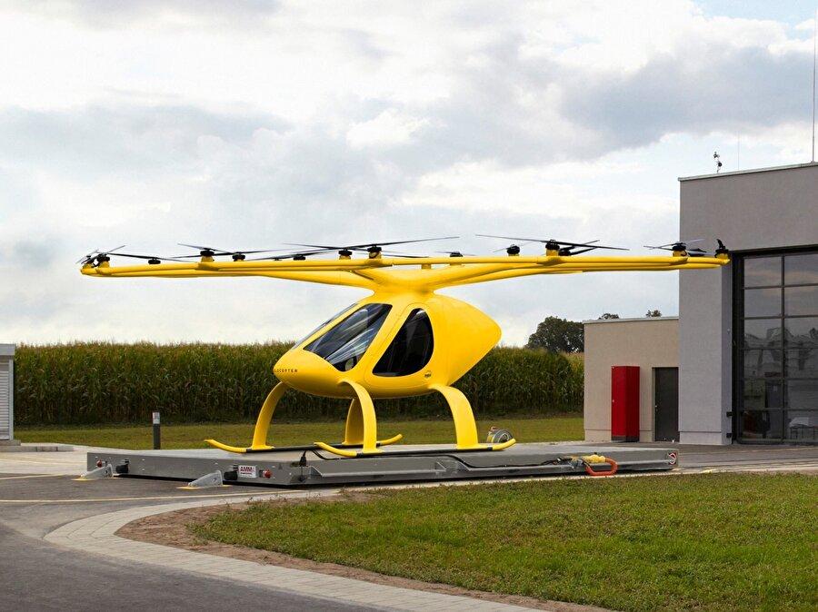Hava taksinin hızı 35 km / s ile 110 km / s arasında değişiyor.