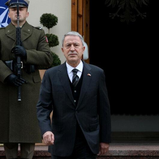 Turkish defense chief meets Polish counterpart in Warsaw