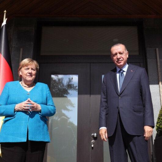 Erdogan, Germany's Merkel meet in Istanbul