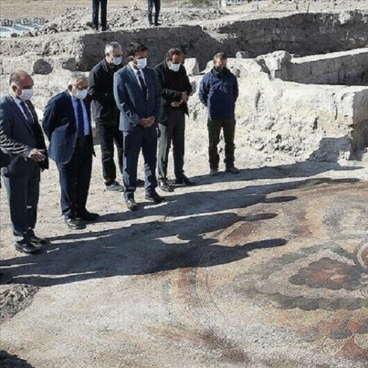 Floor mosaic from Late Roman-Early Byzantine period found central Turkey
