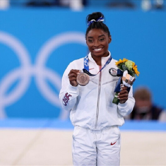 US gymnast Biles wins Olympic bronze to end Tokyo 2020 campaign