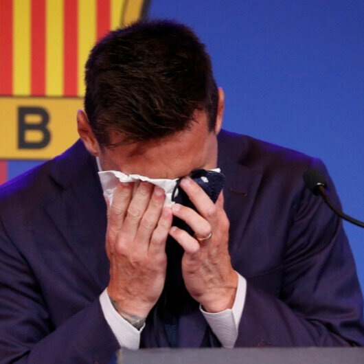 'I never thought of it': Lionel Messi bids emotional farewell to Barcelona