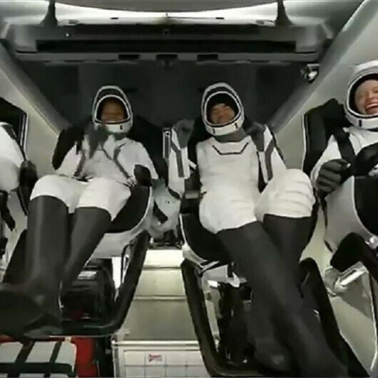 Four space tourists come back to Earth after 3 days in orbit