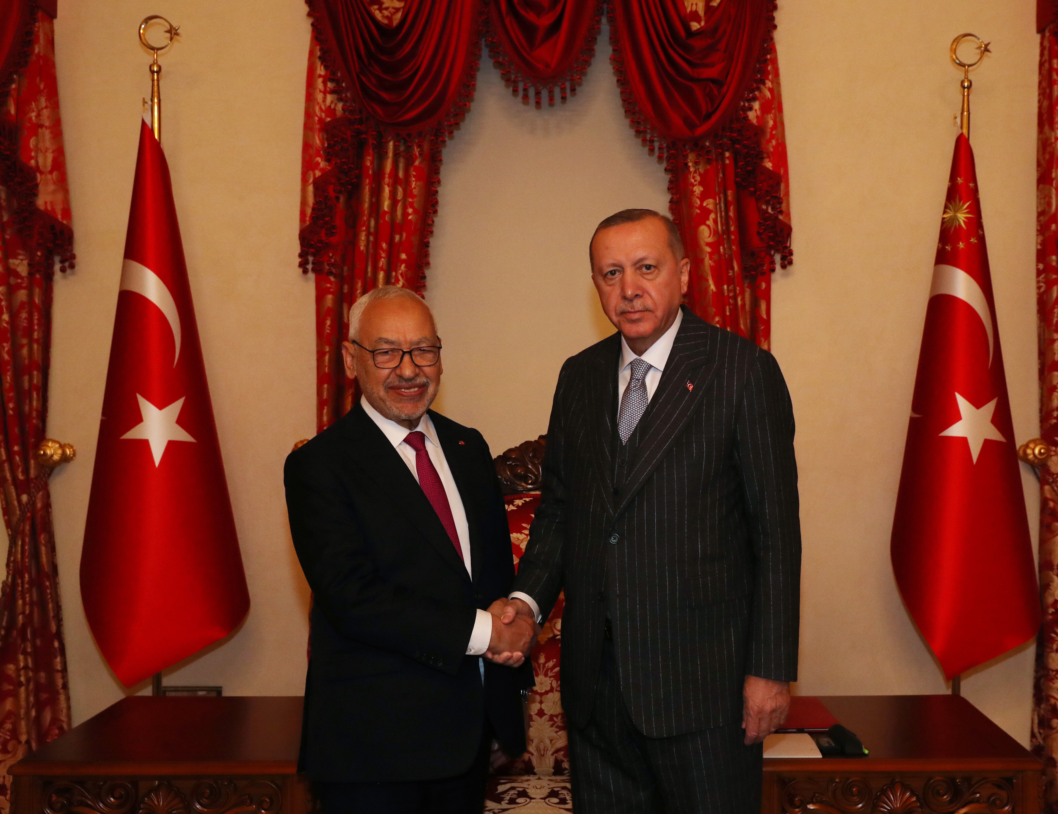 Cumhurbaşkanı Erdoğan, Tunus Meclis Başkanı Raşid el-Gannuşi'yi ...