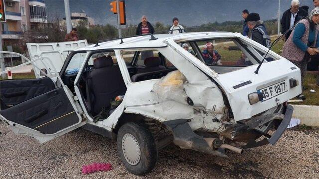 Manisa'da trafik kazası haberi: 6 yaralı