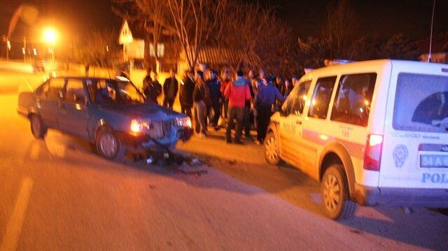 Sakarya'da yaşanan trafik kazasında 3 kişi yaralandı