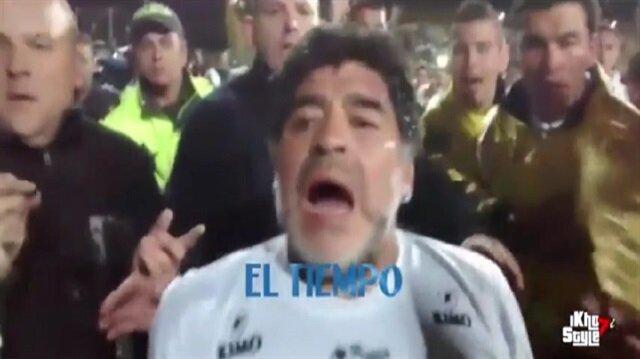 Maradona barış maçında kadın gazeteciye saldırdı