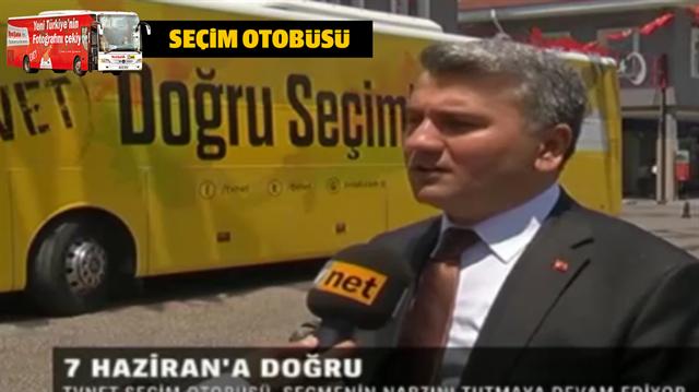 TVNET ve Yeni Şafak seçim otobüsünün konuğu Mustafa Canbey