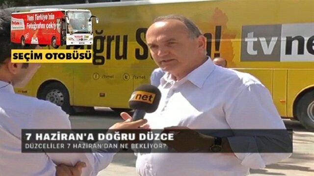 TVNET ve Yeni Şafak seçim otobüsünün konuğu Faruk Özlü