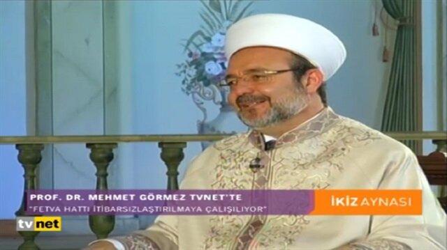 Diyanet İşleri Başkanı Mehmet Görmez TVNETte