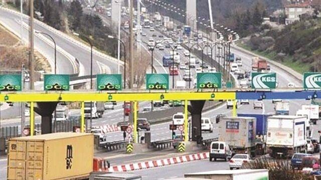 Köprü ve otoyol gelirleri  658 milyon lirayı buldu