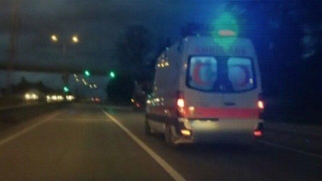Polis şüphelendiği ambulansı durdurunca...