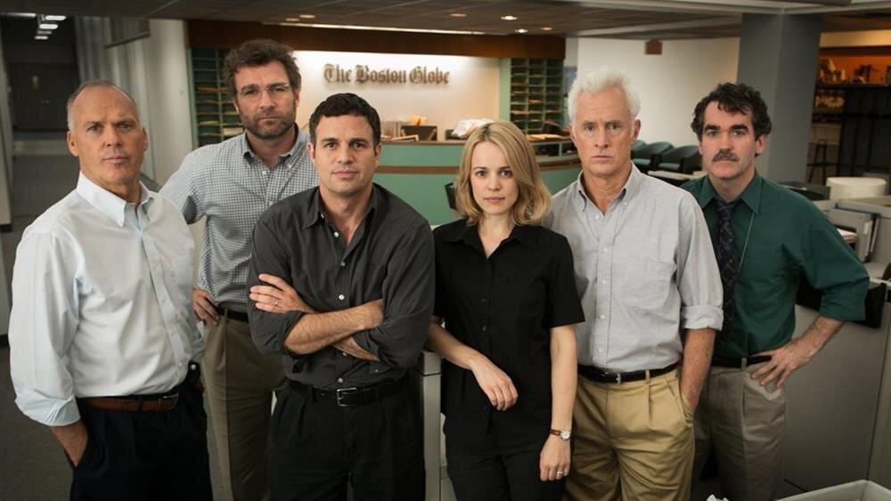 Spotlight filmindeki gazeteci grubumuz.